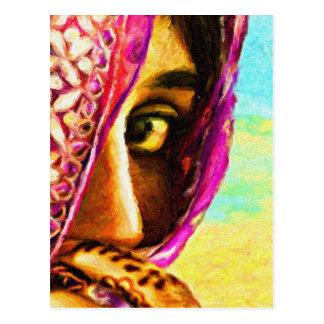 Cartão Postal A menina tímida