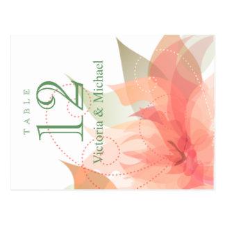 Cartão Postal A mesa numera - floral abstrato - o gelo