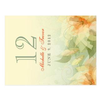 Cartão Postal A mesa numera - floral abstrato - o sábio amarelo