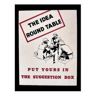 Cartão Postal A mesa redonda da ideia, pôr seu na sugestão