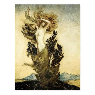 Cartão Postal A metamorfose de Daphne em uma árvore
