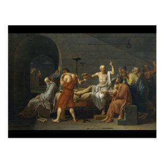 Cartão Postal A morte de Socrates