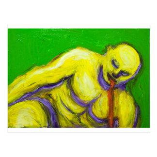 Cartão Postal A morte de Socrates (retrato do expressionism)