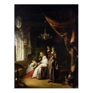 Cartão Postal A mulher Dropsical, c.1663