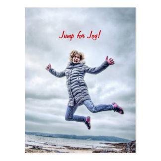 Cartão Postal A mulher que salta para a alegria
