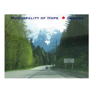 Cartão Postal A municipalidade entrando da esperança Canadá