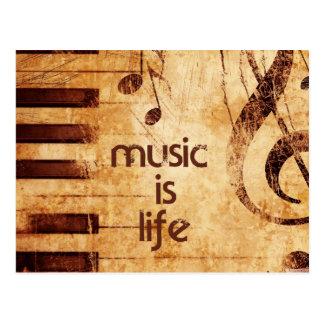 Cartão Postal A música é vida