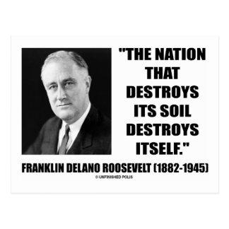 Cartão Postal A nação de Franklin Delano Roosevelt destrói seu