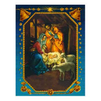Cartão Postal A natividade, a Mary, o Joseph e o bebê Jesus