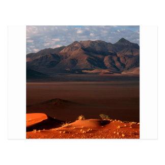 Cartão Postal A natureza força o deserto de Namib Namíbia do