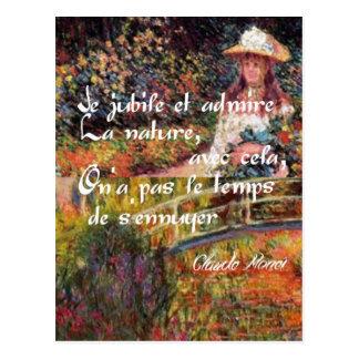 Cartão Postal A natureza no art. de Monet