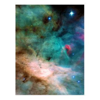 Cartão Postal A nebulosa 17 NGC mais messier 6618 M17 de Omega