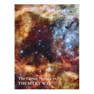 Cartão Postal A nebulosa de Carina