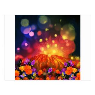 Cartão Postal A noite é cheio da cor que aprecia a vida