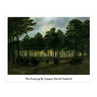 Cartão Postal A noite por Caspar David Friedrich