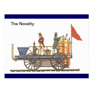 Cartão Postal A novidade, trem adiantado do vapor