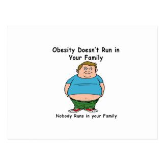 Cartão Postal A obesidade não funciona em sua família