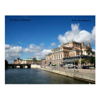 Cartão Postal A ópera, Éstocolmo, Ola B da foto…
