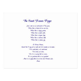 Cartão Postal A oração da paz de St Francis