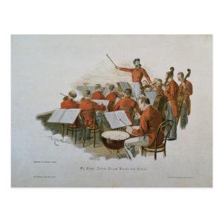 Cartão Postal A orquestra de Johann Strauss em uma bola da corte