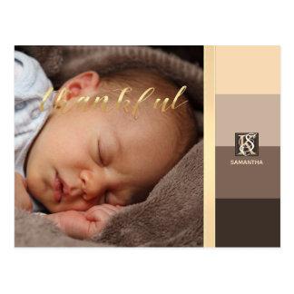 Cartão Postal A paleta de cores de Latte do Mocha listra o