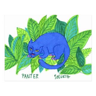 Cartão Postal A pantera azul