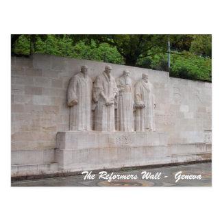 Cartão Postal A parede dos reformistas - Genebra