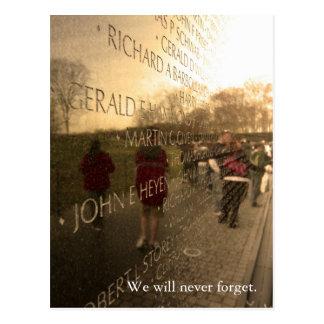 Cartão Postal A parede - edição do fim de semana do Memorial Day