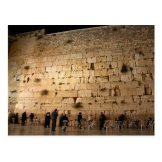 Cartão Postal A parede ocidental (Kotel), Jerusalem