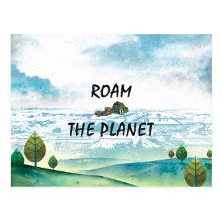 Cartão Postal A PARTE SUPERIOR vagueia o planeta