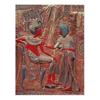 Cartão Postal A parte traseira do trono de Tutankhamun
