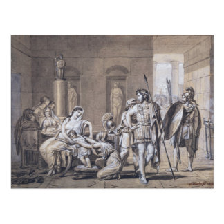 Cartão Postal A partida de Hector, c.1812