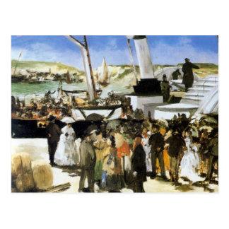 Cartão Postal A partida do vapor de Folkestone - Manet