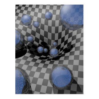 Cartão Postal #A passado Checkered