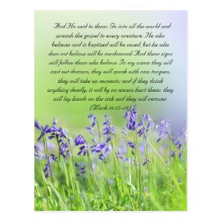 Cartão Postal A passagem da bíblia, bluebells fecha-se acima