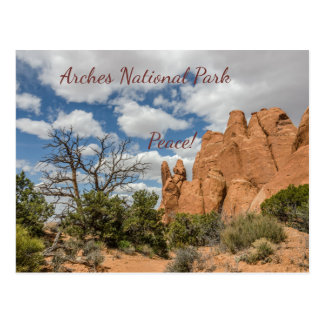 Cartão Postal A paz assina arqueia dentro o parque nacional