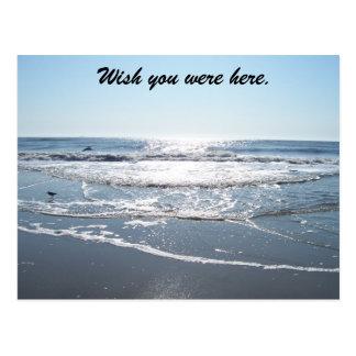 Cartão Postal A paz, deseja que você estava aqui