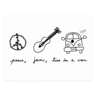 Cartão Postal A paz, doce, vive em um Van