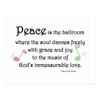 Cartão Postal a paz é o salão de baile