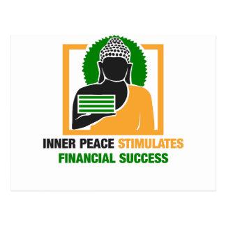 Cartão Postal A paz interna estimula o sucesso financeiro