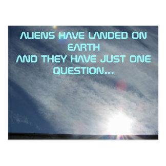 Cartão Postal A pergunta da alienígena uma