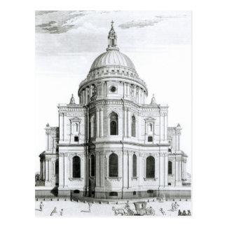 Cartão Postal A perspectiva do leste da catedral de St Paul