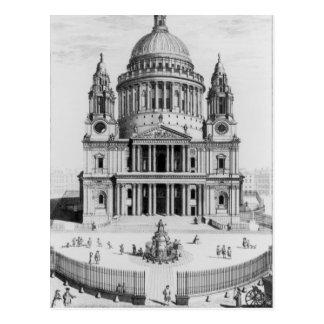 Cartão Postal A perspectiva ocidental da catedral de St Paul