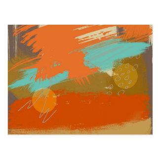 Cartão Postal A pintura abstrata da arte da paisagem circunda