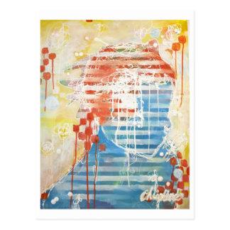 Cartão Postal A pintura de Christine