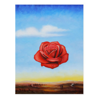 Cartão Postal a pintura famosa surrealista aumentou da espanha