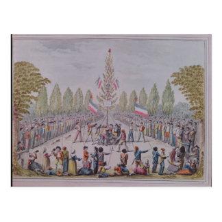 Cartão Postal A plantação de uma árvore da liberdade