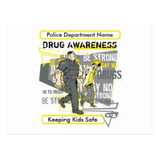 Cartão Postal A polícia feita sob encomenda droga a consciência