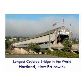 Cartão Postal A ponte coberta a mais longa no Worl…