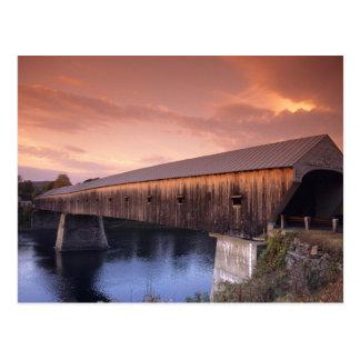 Cartão Postal A ponte coberta a mais longa nos Estados Unidos